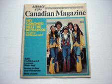 TONY DEFRANCO FAMILY on cover THE CANADIAN magazine July 27, 1974  rare