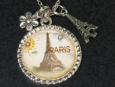 "Sunflower in Paris with Charms Charm Tibetan Silver 18"" Necklace B2"