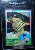 1996 TOPPS REFRACTOR W/C #13 MICKEY MANTLE NEW YORK YANKEES HOF MINT+