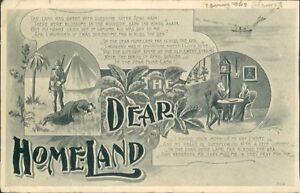 Postcard Poem Card Dear Homeland posted 1906