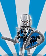 Playmobil Mystery Figure Series 5 5460 Blue Silver Dragon Knight Shield NEW