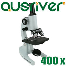 Celestron 400x Laboratory Biological Microscope 50mm Mirror High Power 44102