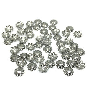stainless steel filigree bead caps for 7mm and 8mm beads
