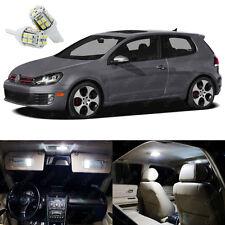 13 x Xenon White LED Interior Light Package For Volkswagen Golf GTi 2010 - 2014