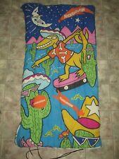 Vintage 1990's Coleman Nickelodeon Lizard Cactus Youth Sleeping Bag Glow Dark