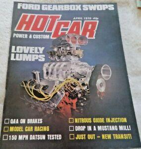 Hot Car Power & Custom Magazine April 1978 Transit Datsun  Nitrous