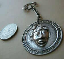 Vintage Mexican Sterling 925 Key Ring E.V.B. Mayan Influence