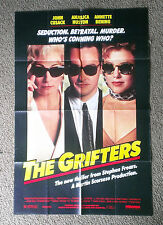 1990  THE GRIFTERS  Authentic folded movie poster John Cusak Angelica Houston