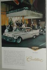 1958 CADILLAC DeVille advertisement, Sedan De Ville, Bellevue Stratford hotel