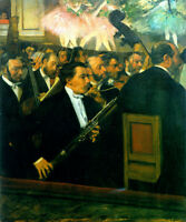Edgar Degas Orchestra Fine Art Print on Canvas Giclee Reproduction Small 8x10