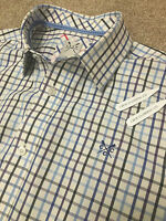 GORGEOUS CREW CLOTHING CLASSIC FIT BRITISH GINGHAM SHIRT M MEDIUM COST £75