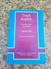 Teach English:  A Training Course for Teachers Trainers Handbook Doff Cambridge