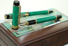 WATERMAN PATRICIAN MAN 100 Patrician GREEN SET BALLPOINT PEN FOUNTAIN PEN