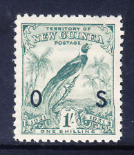 AUSTRALIA NEW GUINEA 1931 SG039 1/- pale blue-green with dates opt OS u/m cat£16
