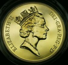 """1993 """"U"""" UK Great Britain Gold £5 Pounds Brilliant Uncirculated Coin Box And COA"""