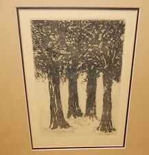 """CLUTTER OF TREES BUSH CANVAS 40W/""""x30H/"""" ALL IN GOOD TIME by FORD SMITH"""