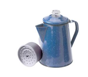 ENAMEL PERCOLATOR - 8 CUP - BLUE SPECKLE