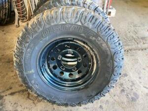 Defender 90 110 130 Tdci Puma & earlier set of 5 steel wheels + 265 tyres