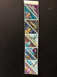 Middle East Jordan mnh stamp set of 10 in strip - SPACE - triangles