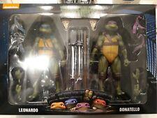 NECA Teenage Mutant Ninja Turtles  7? Leonardo & Donatello 2 Pack!!! NEW!!!