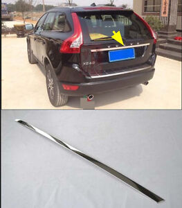 Chrome Plated Rear Trunk Lid Cover Trim for 2009-2013 Volvo XC60 Cover steel