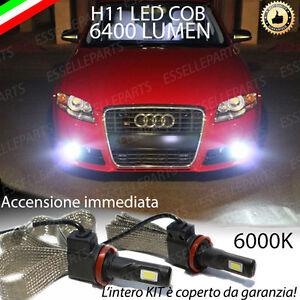 KIT LED AUDI A4 B7 LAMPADE H11 FENDINEBBIA CANBUS 6400 LUMEN 6000K NO AVARIA