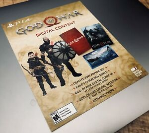 New God of War Collector's Edition DLC Digital Code Slip Only PS4