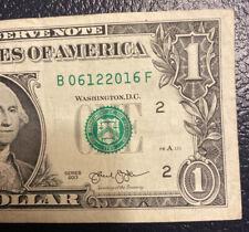 June 12th 2016 Birthday Anniversary Bill $1 US Dollar Note **L@@K**.