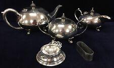 Paramount Teapot, Milk Jug, Sugar Pot With Unmarked Tea Strainer, Serviette Ring