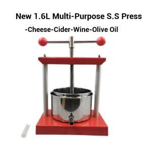 Free postage New 1.6L Multi-purpose Cheese/ Wine/Cider/Olive Oil  Making Press