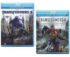 TRANSFORMERS 3 e 4 L'Era Dell'Estinzione 3D (4 BLU-RAY 3D + 2D)