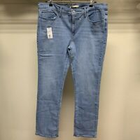 Levi's Womens 314™ Shaping Straight Jeans High Rise Light Blue Size 34 Stretch
