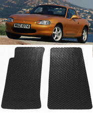2 Pcs Black Custom Fit All Season Rubber Floor Mat Liner For 99-05 Miata MX-5