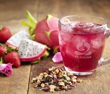 🌈🍓 NEW! RARE!! TEAVANA DRAGONFRUIT DEVOTION Herbal Loose Leaf Tea 4oz Bag!🍓🌈