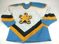 Vintage Bauer Pro Authentic Russian Cokiv Knib Hockey Jersey Mens Large/XL Knit