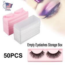 50x Empty False Eyelash Box & Trays Eye Lash Packaging Case Box Container Travel