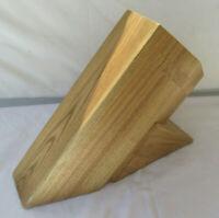 Shun 8-Slot Hard Wood Knife Block - Fuji Kai Blonde Bob Kramer Reserve Meiji