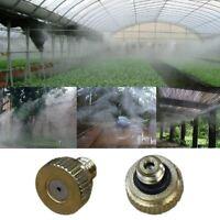 10PCS Brass Fog Mist Nozzle Misting Fogging Spray Sprinkler Head Water Connector