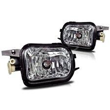 For Mercedes Benz C240 C320 CL500 SL600 Clear Lens Chrome Housing Fog Light Lamp
