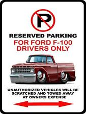 1965 Ford F-100 Pickup Truck Car-toon No Parking Sign NEW