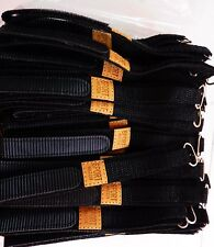 PROMO Lot 100 Bracelet Montre/Watch Bands Sport Watch 12 mm Noir Velcro Long 25