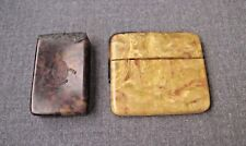 2 Antique Marbled Celluloid Boxes Spare Parts For Jewelry Project