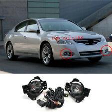 w/ Switch Cable Bezel Halogen Front Fog Lights 1set  For Nissan Altima 2010-2012