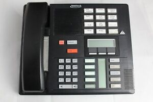 Lot 10 Nortel M7310 Black Office Business Phones W/ Stands and Handsets NT8B20AH