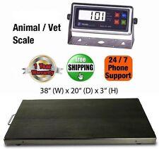 New 300kg/ 660lb Vet Scale/Animal Scale Livestock Scale Stainless Steel Platter