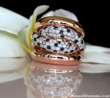 Los única: grave negro blanco marrón brillante anillo 0,91 TC rg585 4000 €