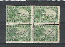 R1055 - LIBERIA - QUARTINA USATA NATURA - VEDI FOTO