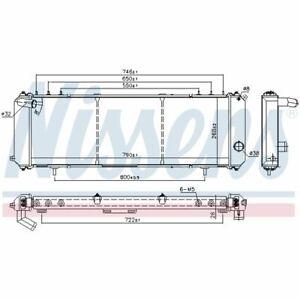 Kühler, Motorkühlung NISSENS 61008