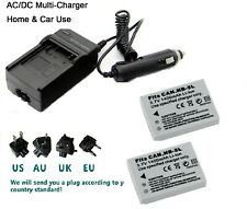 2X NB-5L Battery & wall Charger for Canon PowerShot SX230 HS,S100,S110, SD700 IS