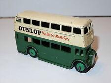DINKY TOYS 290 DOUBLE DECKER BUS 'DUNLOP' 1950s MECCANO ENGLAND